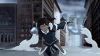 Korra utilise sa maîtrise de l'eau
