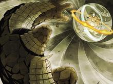 Yangchen combattant le Vieux Général de Fer