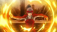 Korra se défendant par elle-même