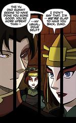 Suki heureuse à propos de l'optimisme de Zuko