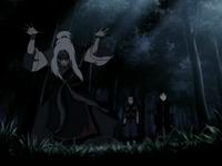 Hama maîtrise le sang d'Aang et de Sokka