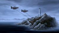 Les Égalitaristes envahissent l'Île du Temple de l'Air