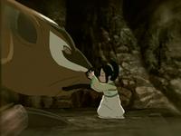 Toph rencontre une Taupe-blaireau