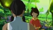 Jinora guiando a Korra