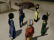 Joo Dee begrüßt das Team Avatar