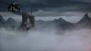 Zaheer fliegt mit Korra weg