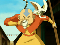 Aang uses whistle
