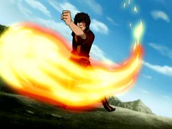 Zuko firebending