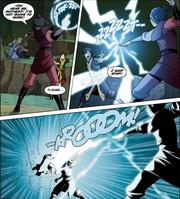 Комикс П2 Азула ударяет молнией
