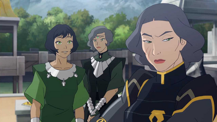 Suyin opal korra asami and bolin avatar the legend