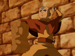 Aang's earth arm