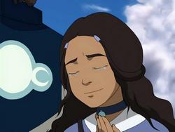 Katara happily tears up