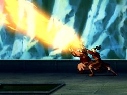Iroh en Zuko's gecombineerde aanval