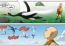 Комикс Р3 Аанг и летящий рыбожуравль