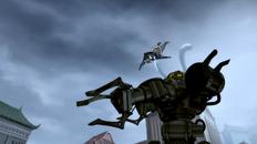 Korra besiegt einen Robo Panzer