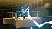 Mako lanzándole un relámpago a Amon