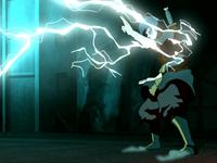 Zuko absorbing lightning