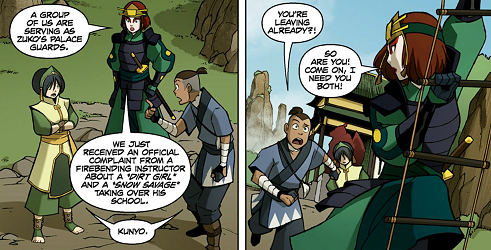 File:Suki picking up Sokka and Toph.png