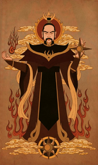 Sozin's father painting