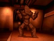 Toph en armadura de metal