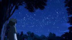 Yukino stares at the stars