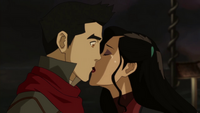 Asami kisses Mako