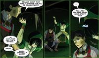 Satoru tells Toph of his past