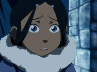 Young Katara worried