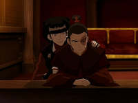Mai trying to cheer Zuko up