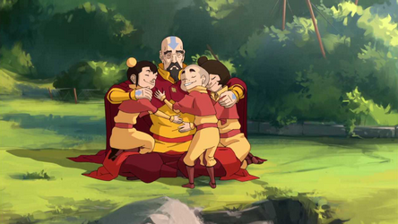 File:Tenzin and his children.png