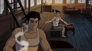 Mako y Bolin en el ático