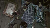 Tarrlok enfrentandose a Amon