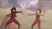 Opal und Jinora beschützen Korra