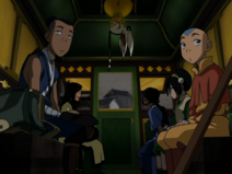 Joo Dee mit Team Avatar in Kutsche