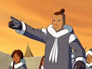 Sokka destierra a Aang