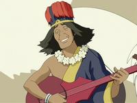 Chong playing music