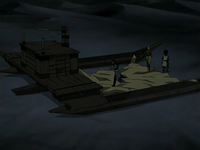 Team Avatar finds sand-sailer