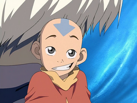 Aang looking innocent