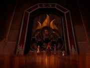 Feuertempel Tür Heiligtum
