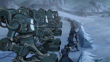 Robo-Panzer verteidigen Geistertor