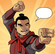 Overconfident Fire Nation soldier