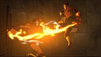 Mako lucha contra el Teniente
