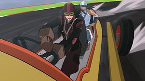 Asami und Korra beim Fahren