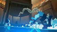 Teniente electrocuta a Korra, Mako y Bolin
