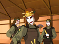 Suki and two Kyoshi Warriors.png