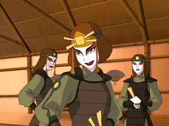 File:Suki and two Kyoshi Warriors.png