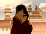 Zuko abraza a Mai