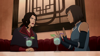 Asami snapping at Korra