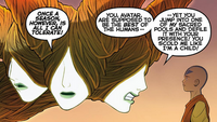 Mother of Faces scolding Aang