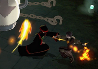 Zuko fighting a Dai Li